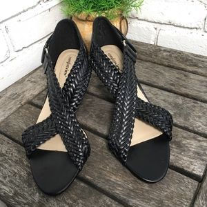 COMFORTVIEW Black Strap Gladiator Heel Sandals  9